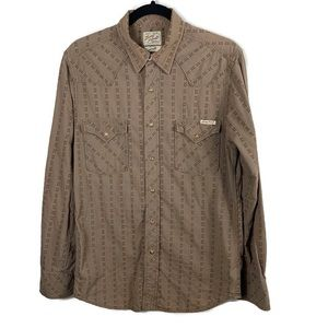 LUCKY BRAND Pearl Snap Western Long Sleeve Shirt